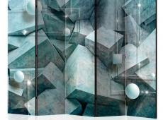 Paraván - Concrete Cubes (Green) II [Room Dividers]